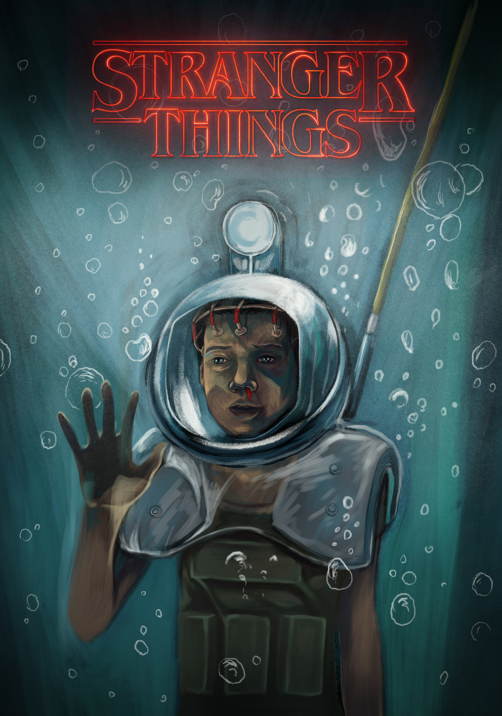 Stranger Things fan art is a gorgeous realm of '80s