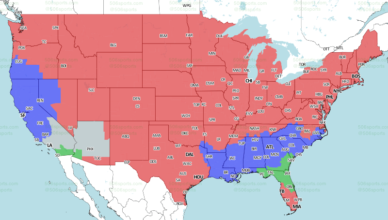 Jaguars Vs Chargers Week 2 Tv Viewing Map On Cbs Big