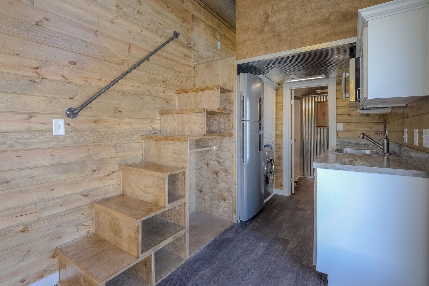 Slick tiny house converted from 40 foot shipping container for 3 40 ft container home