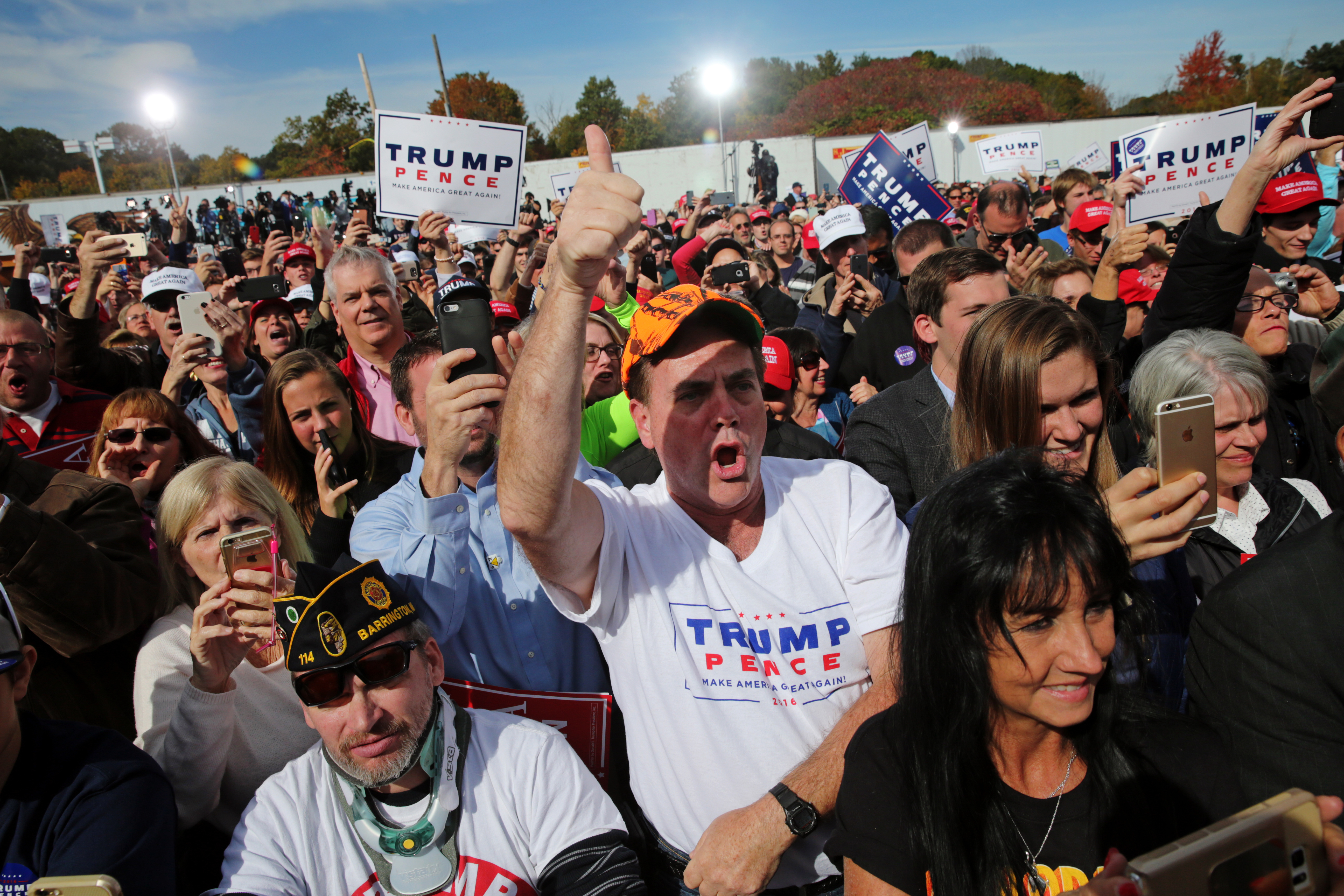 ... Donald Trump Rally at Toyota of Portsmouth in Portsmouth, NH on Oct