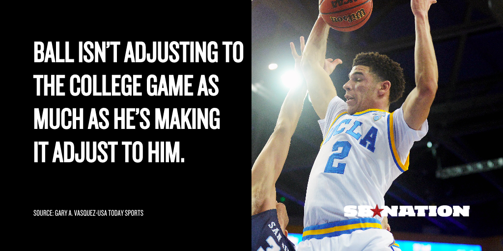 UCLA's Lonzo Ball is putting on the greatest show in ...