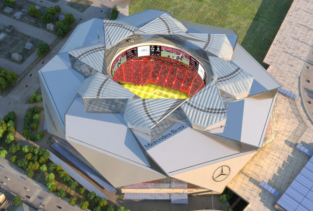 At atlanta falcons mercedes benz stadium extraordinary for Mercedes benz stadium parking atlanta