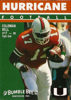 Coleman_bell_1992_miami_hurricanes_bumble_bee