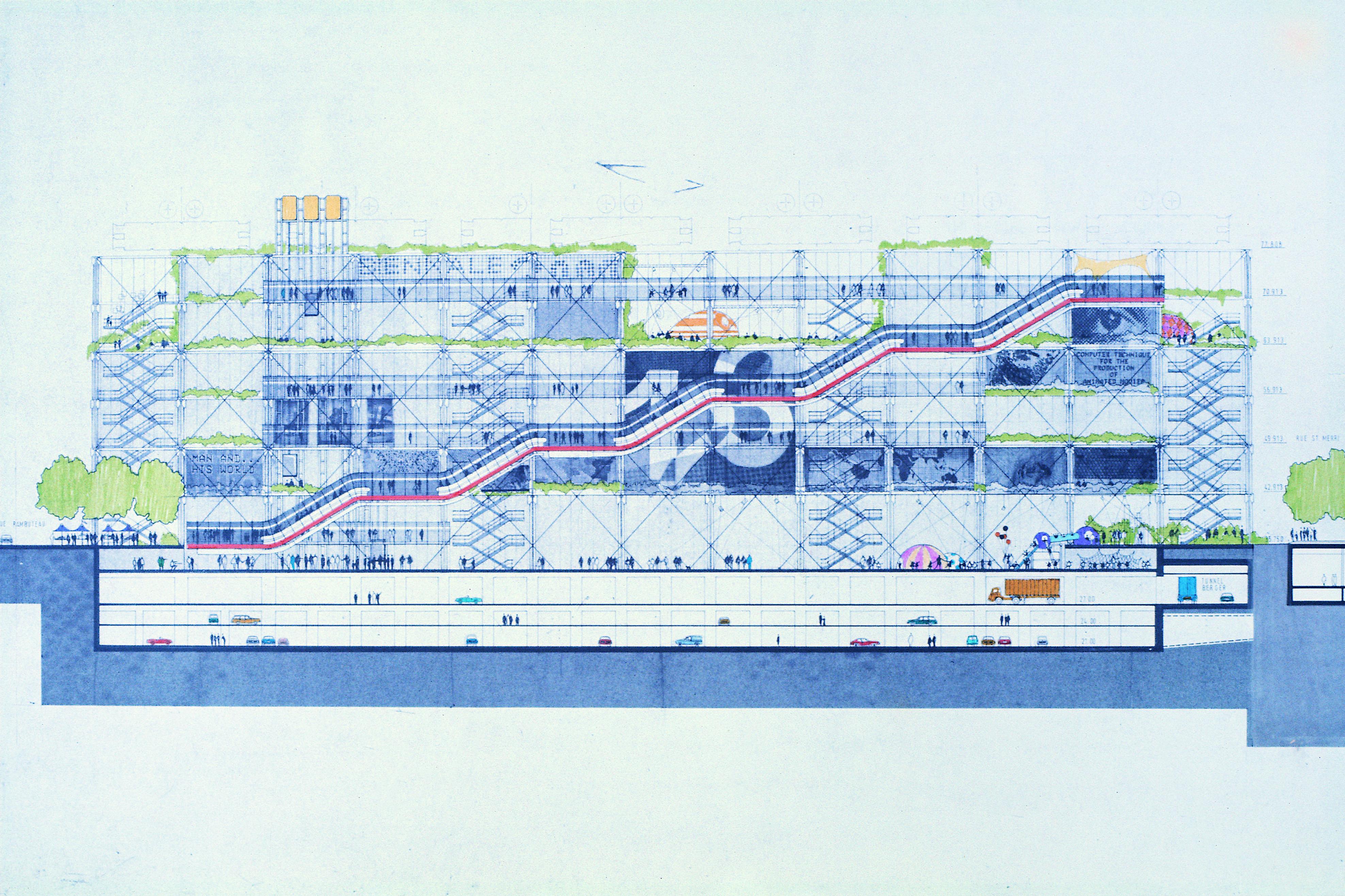 Centre Pompidou Plan Wwwimgkidcom The Image Kid Has It