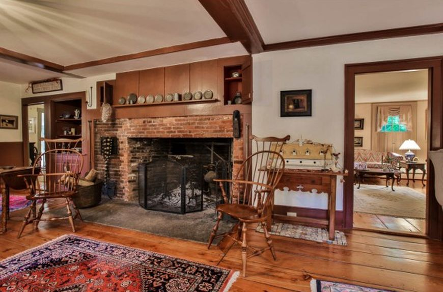 4 Colonial Homes With Cooking Fireplaces For Sale Right