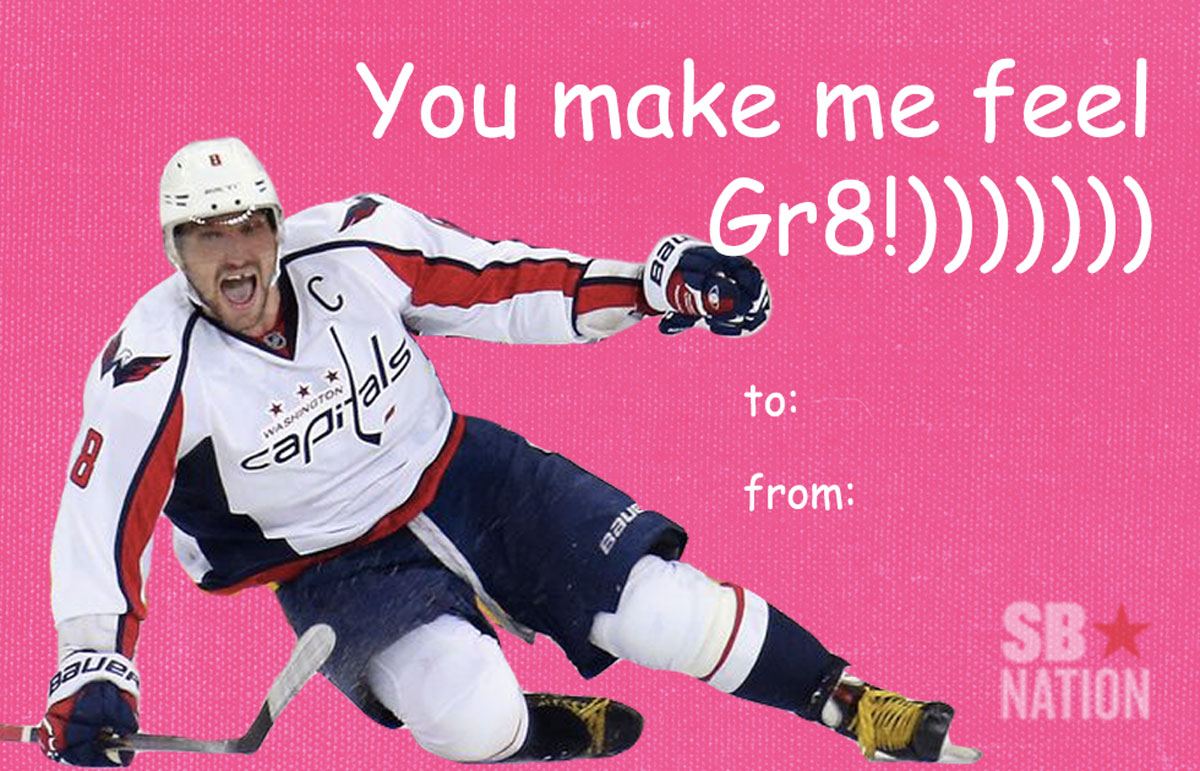 Send these hockey Valentines Day cards to your loved ones – Sports Valentines Cards