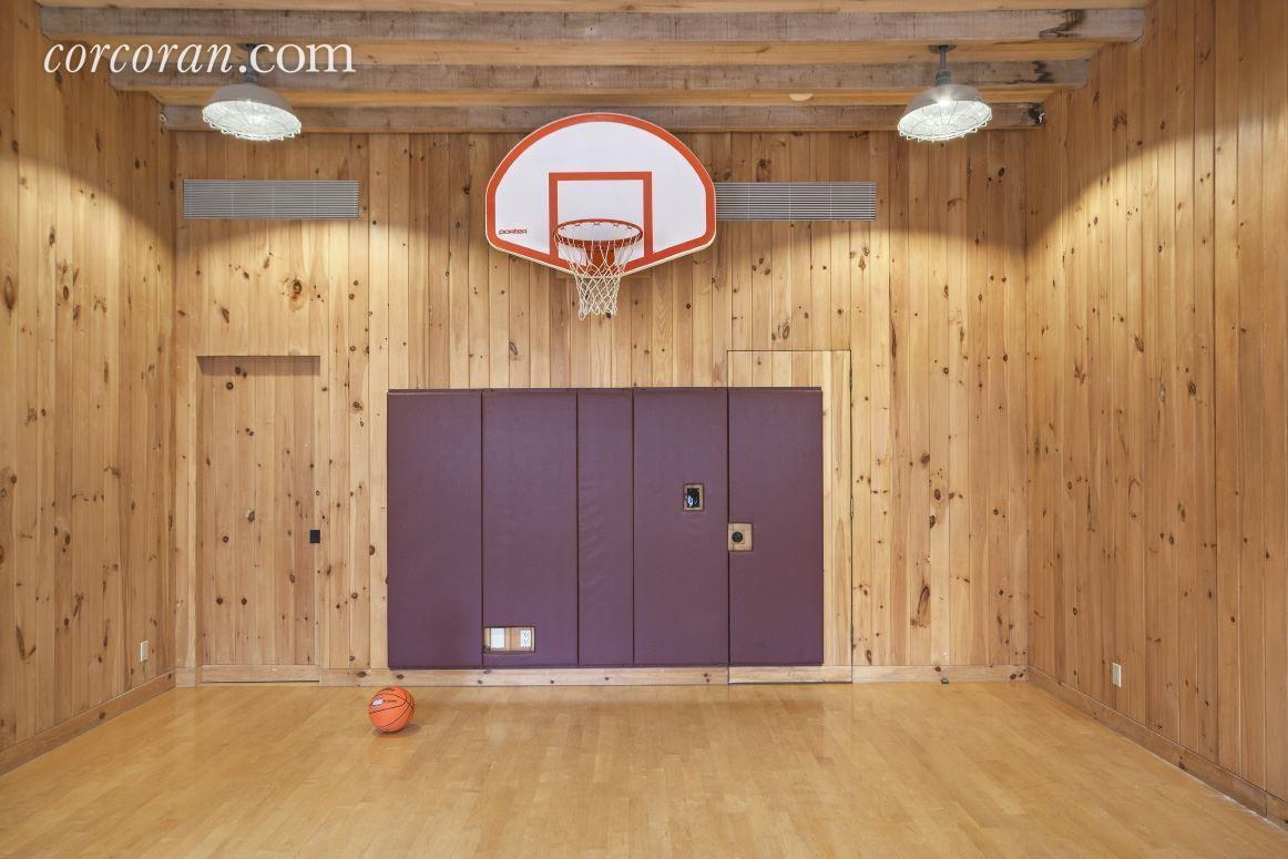 Glorious upper west side mansion with indoor basketball Indoor basketball court ceiling height