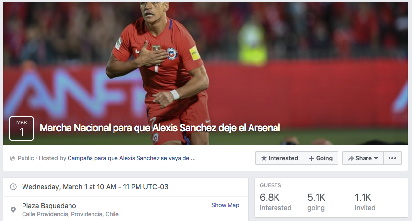 Arsenal fans won't want to read the latest Alexis Sanchez report