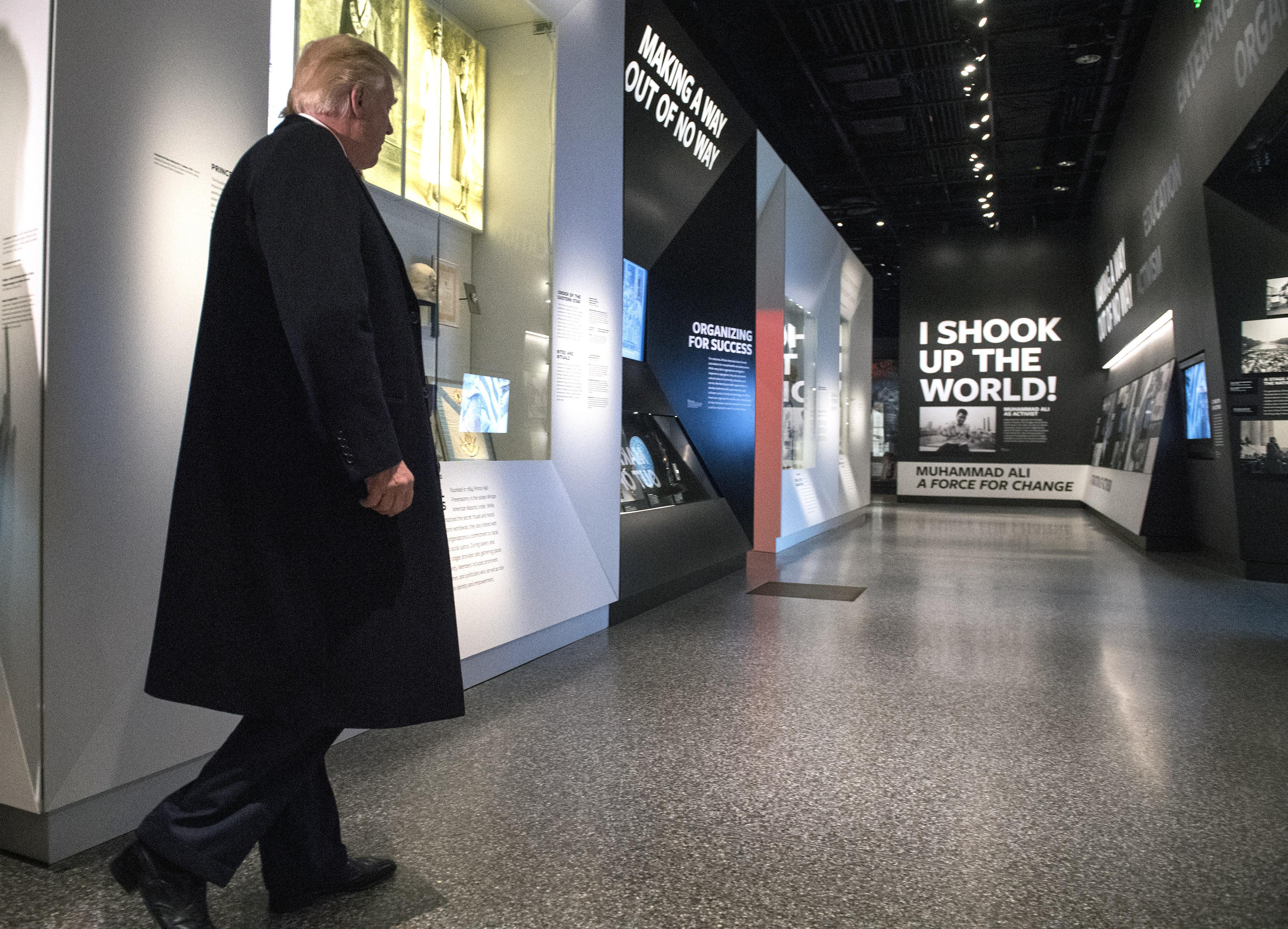 President Trump Visits African-American Museum in Washington