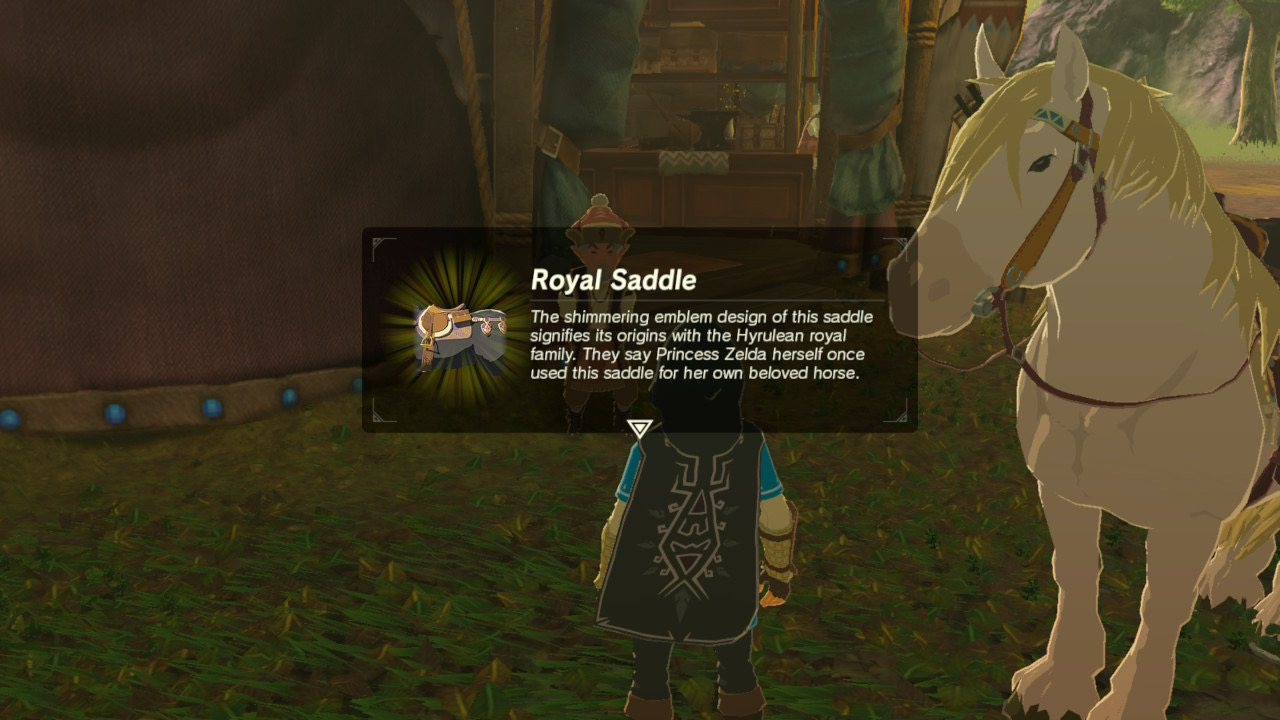 Zelda Breath Of The Wild The Royal White Stallion Side Quest Polygon