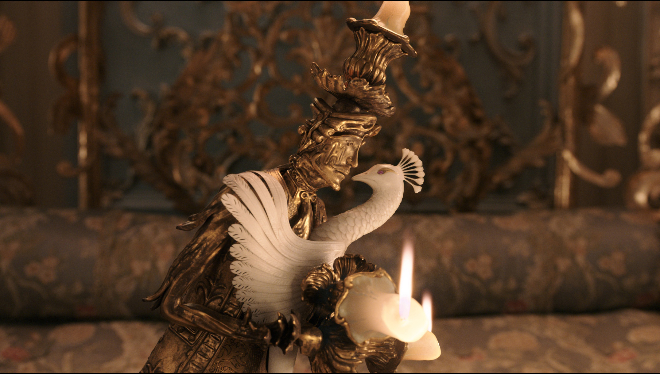Image result for beauty and the beast 2017 lumiere and plumette