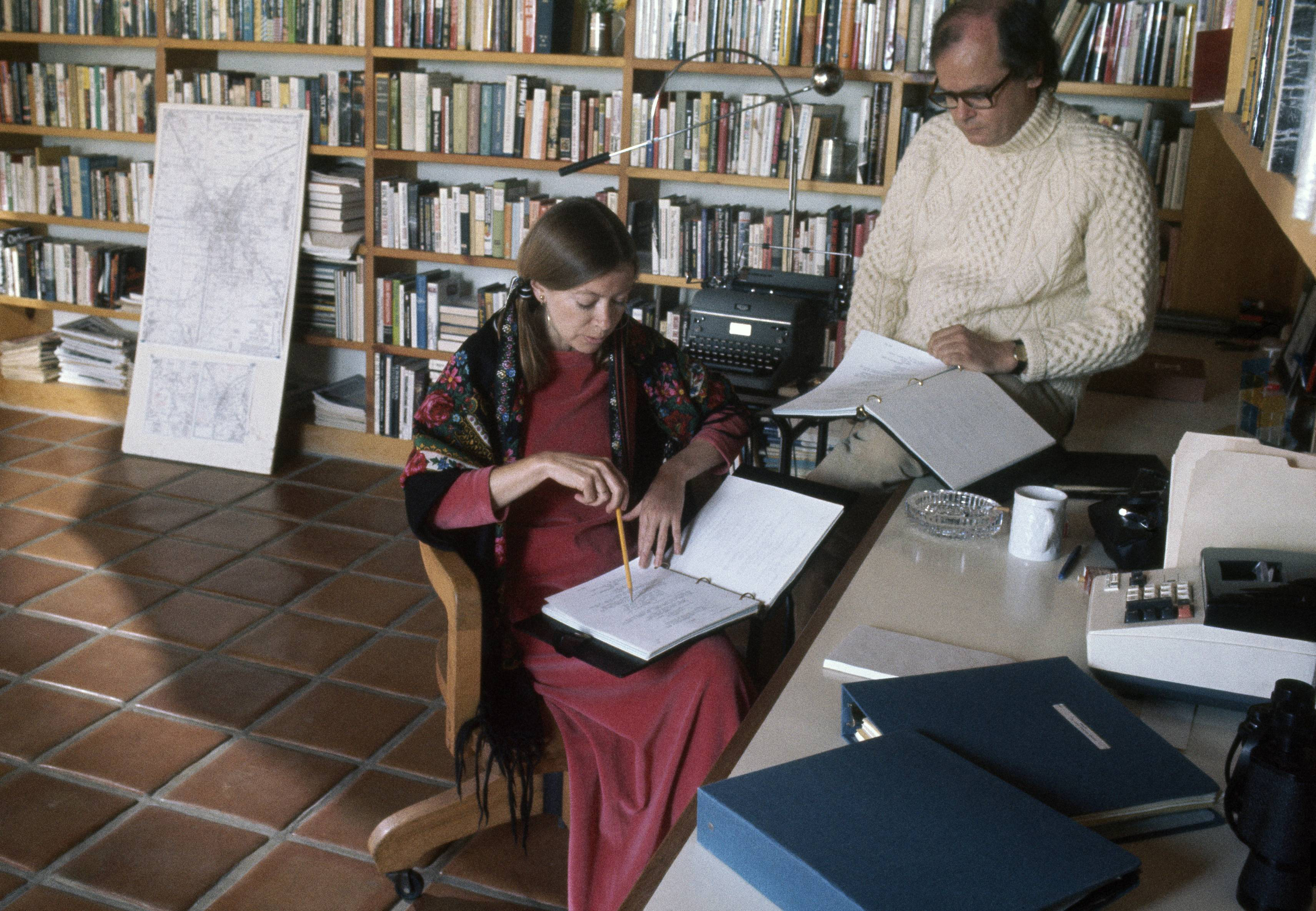 why joan didion writes so much about clothes racked photo henry clarke getty images