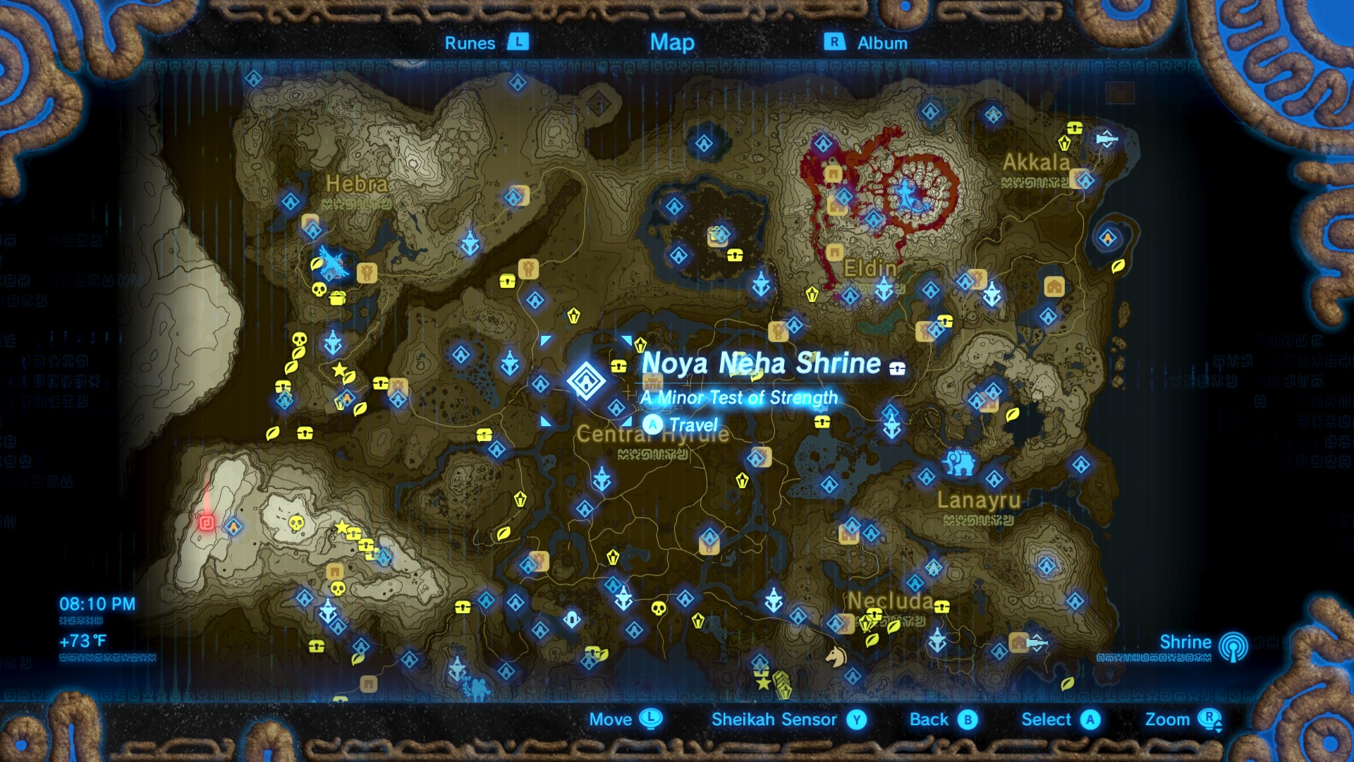 Superb Zelda: Breath Of The Wild Guide: Noya Neha Shrine Location And ...