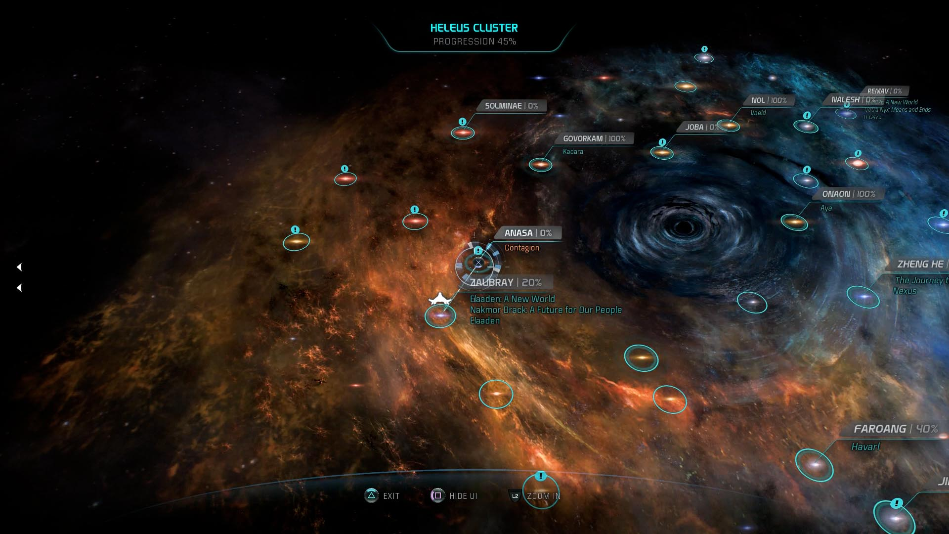 Mass Effect Andromeda Star Map.Mass Effect Andromeda Guide Contagion Heleus Mission Walkthrough
