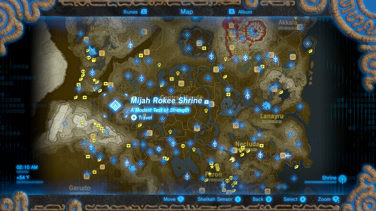 Zelda Breath of the Wild Under a Red Moon shrine quest