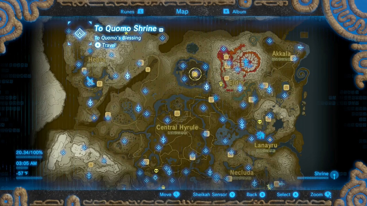 Zelda Breath Of The Wild Guide To Quomo Shrine Location