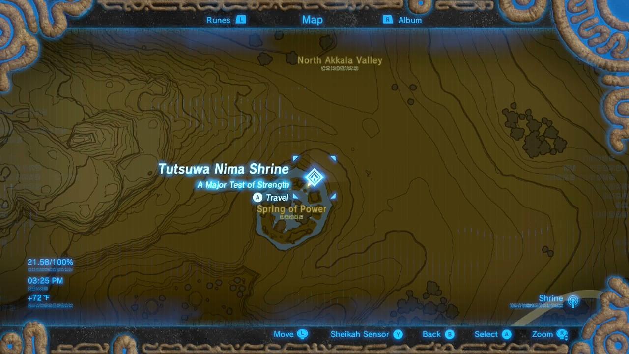 Zelda Breath Of The Wild Guide Tutsuwa Nima Shrine The