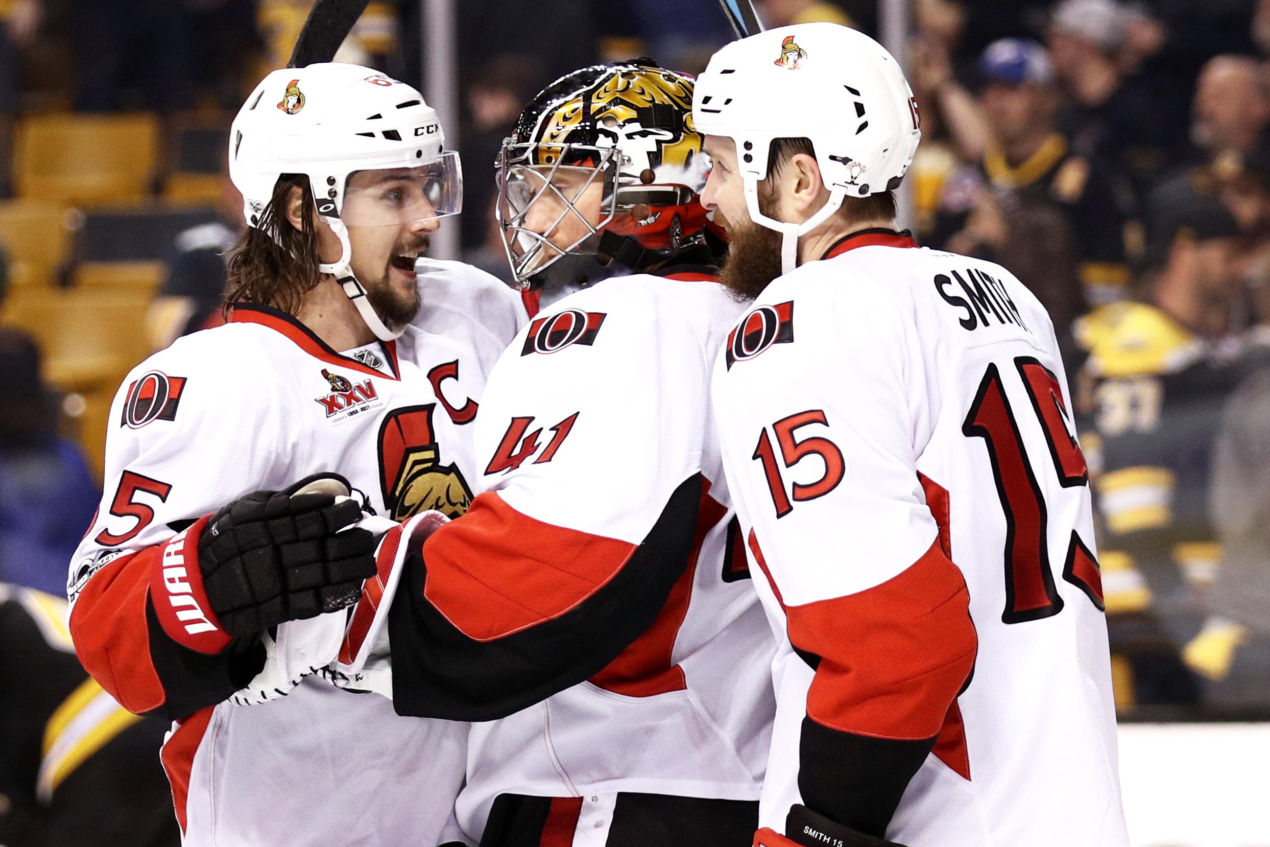 Kuraly's 2nd goal of game lifts Bruins past Senators in 2OT