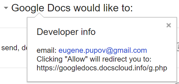 Gdocs Phishing attempt