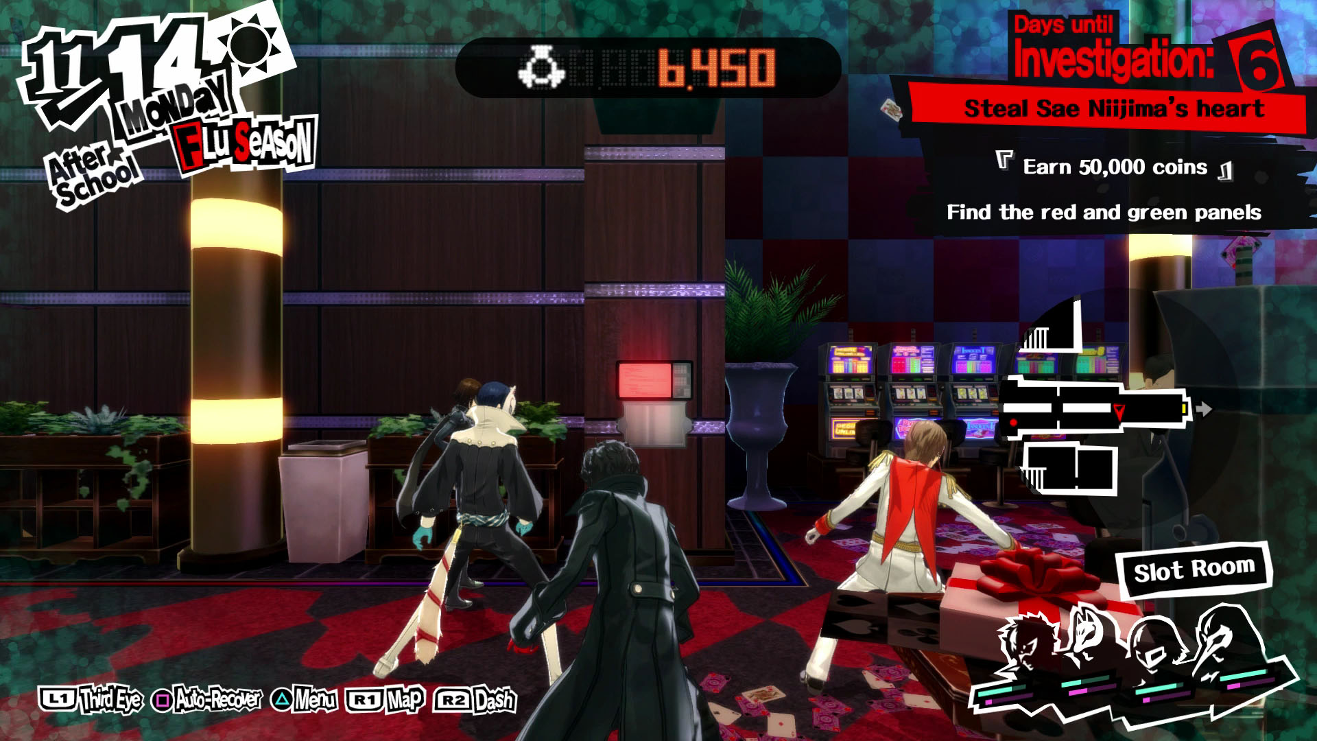 persona 5 casino where is the red panel