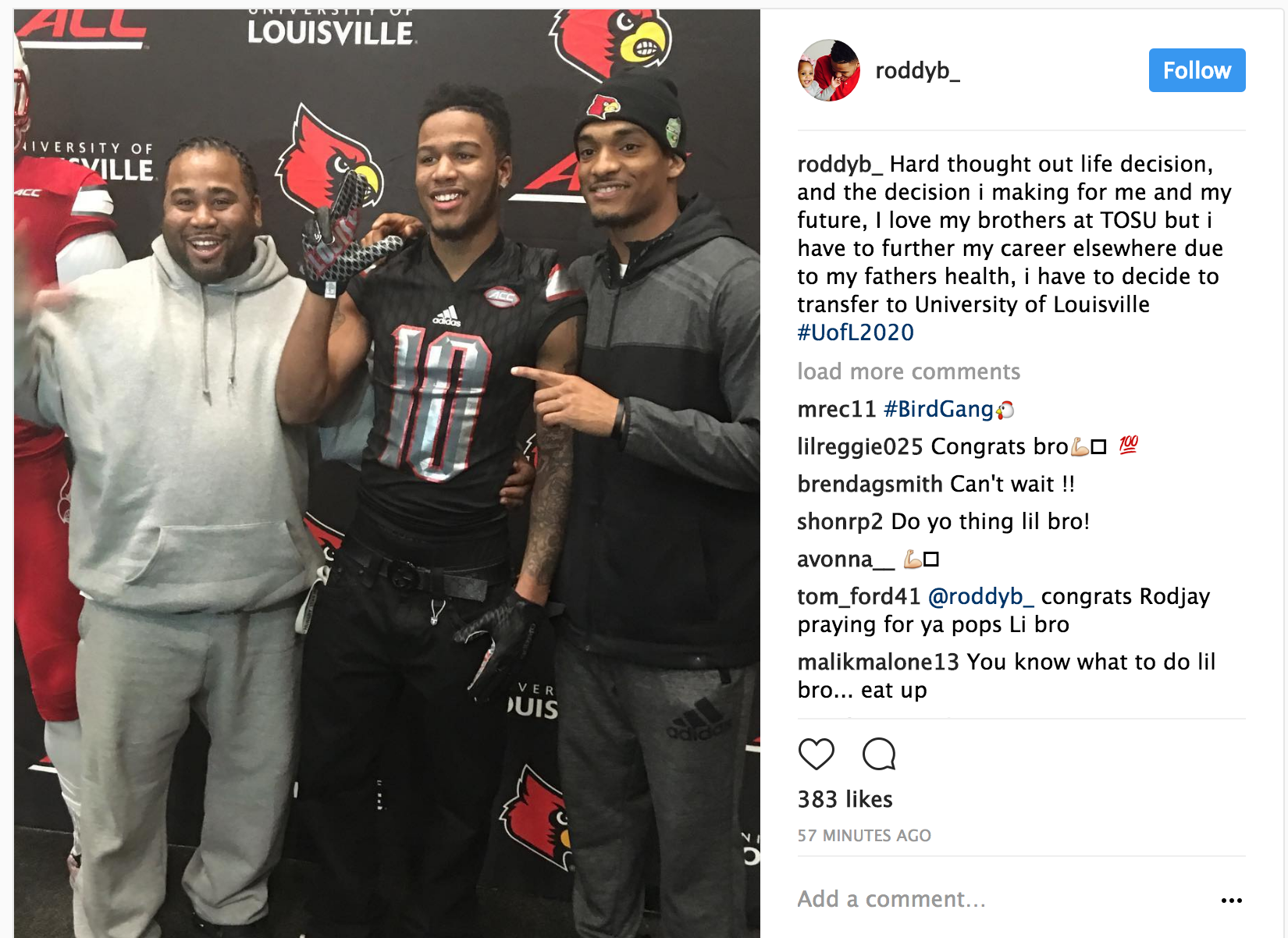 Rodjay Burns: OSU CB Rodjay Burns transfers to Louisville