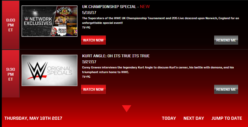 WWE UK Championship Specials Airing on Thursday & Friday on The WWE Network