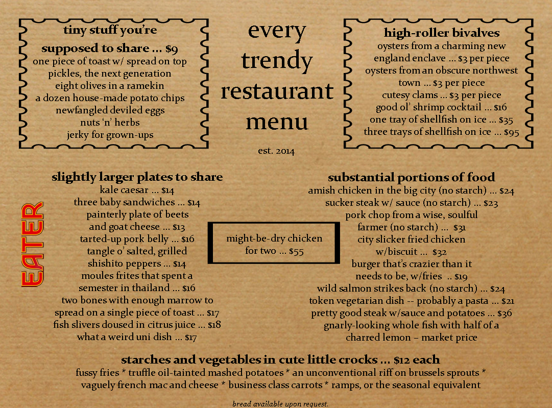 Emoji on restaurant menus why use words when smiley faces for Table table restaurant menu