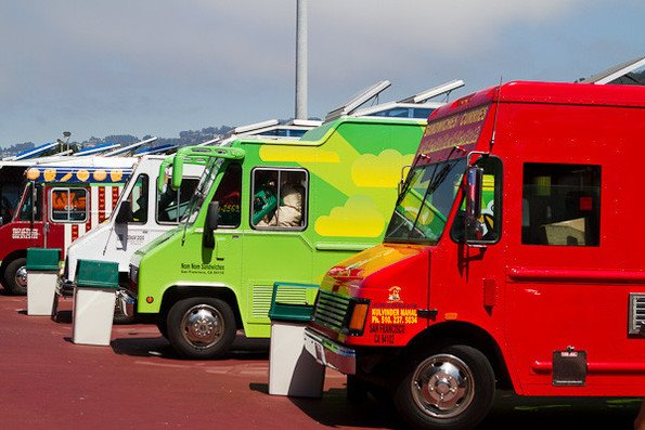 Food Truck Courtyard Downtown