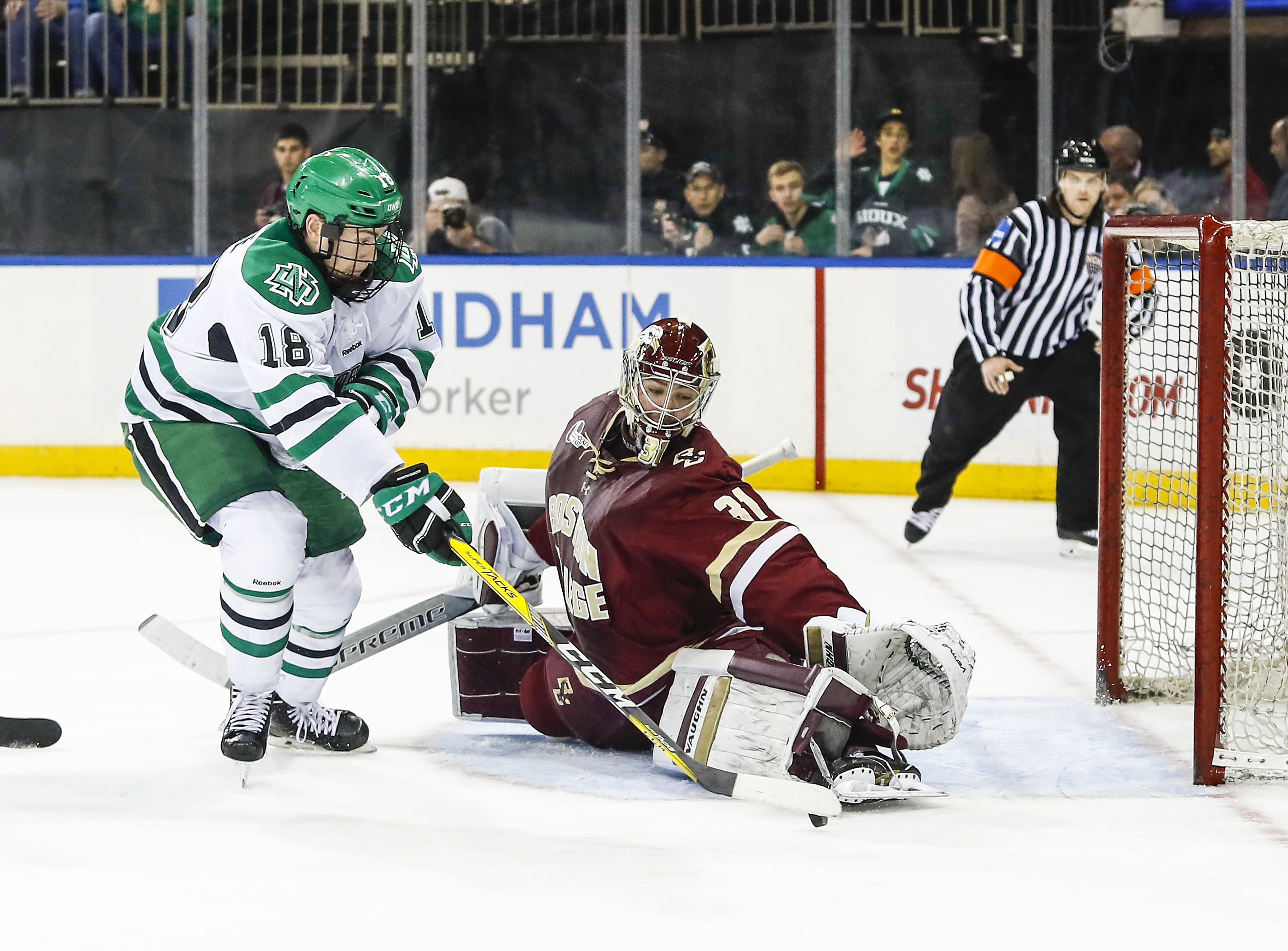 NCAA: College Hockey Showdown - North Dakota Defeats BC In New York City